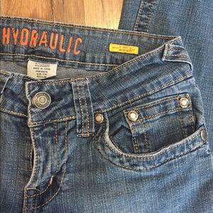 Hydraulic Lola low rise wide leg Jeans size 7-8